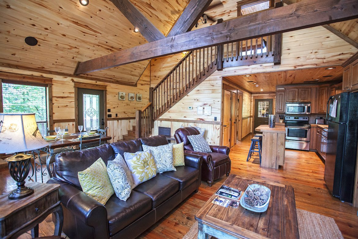 just bow minutes bedroom bath lake from oklahoma push bedrooms new in cabin almost alert and cabins broken ok