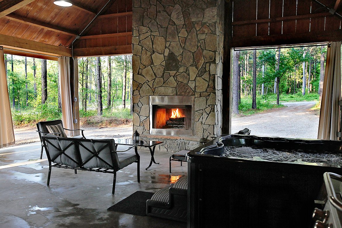 Outdoor Grill Area Wood
