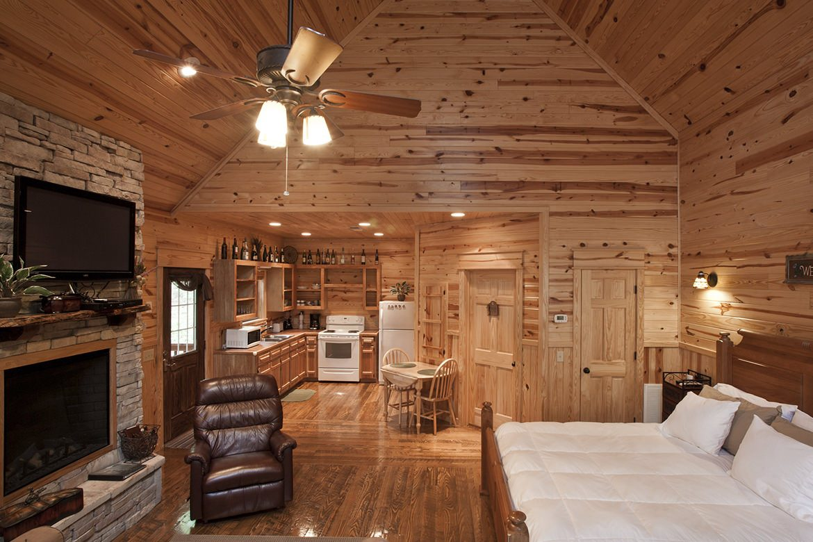Green Mountain Cabin In Broken Bow, OK   Studio Sleeps 2+   Hidden Hills  Cabins