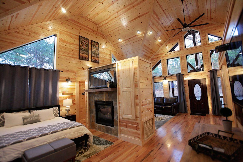 OneUp Cabin in Broken Bow OK Sleeps 2 Hidden Hills Cabins